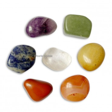 7 Chakra Healing Tumbled Stone Set