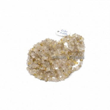 Golden Rutile Chips Stone Necklace