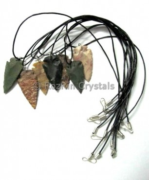 Fancy Jasper Arrowheads Necklace