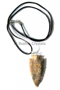 Agate Arrowheads Necklace