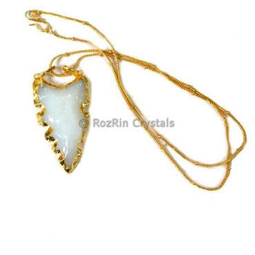 Oplalite Curved Electroplated Necklace