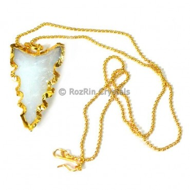 Curved Opalite Electroplated Necklace