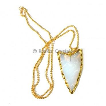 Oplaite V Shape Electroplated Necklace