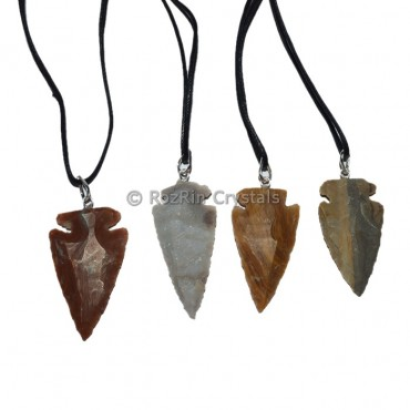 Jasper Agate Arrow Necklace