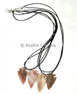 Multi Jasper Arrowheads Necklace