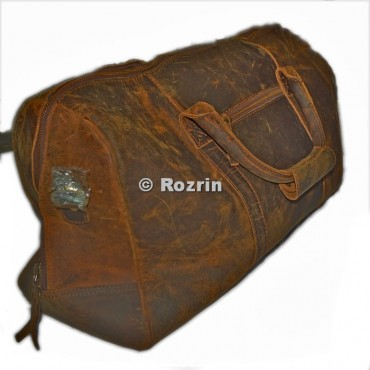 BUFF LEATHER DUFFEL FRONT CHAIN BAG