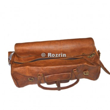 Round duffel Leather Bag