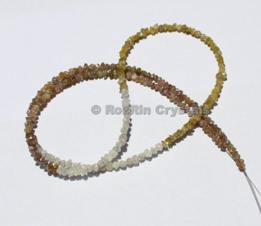 Shaded Diamonds Brown,Grey,Raw Diamond Chips Size 1.5 to 2 mm Approx Natural Rough Diamonds 17 Inch Full Strand Shaded Diamonds yellow