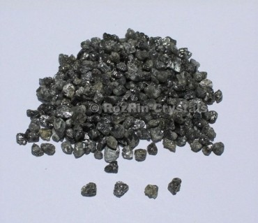 25 Crt Natural Black Diamonds Raw Diamond Chips Natural Rough Diamonds Black Diamonds Uncut Diamonds Size 3 to 4 mm Approx