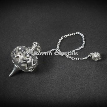 Brass Silver Ball Cage Healing Pendulums