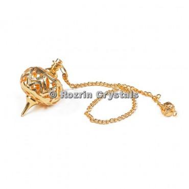 Brass Gold Ball Cage Healing Pendulums