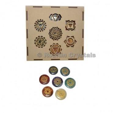 Seven Chakra Stone Engraved Gift Box