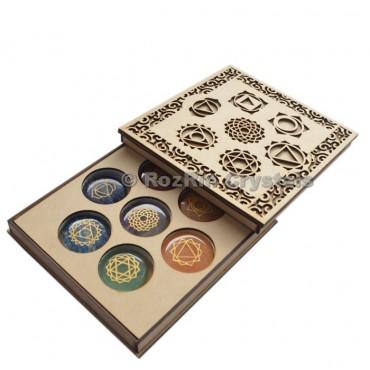 Engraved Chakra Stone Gift Box