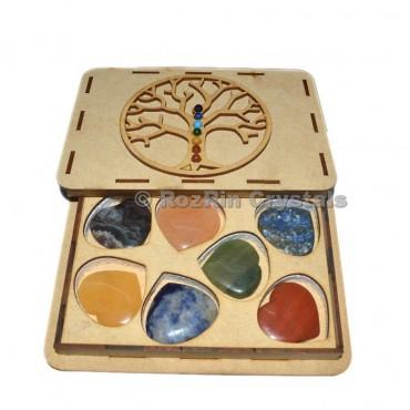 Chakra Tree Of Life Heart Stone Git Box