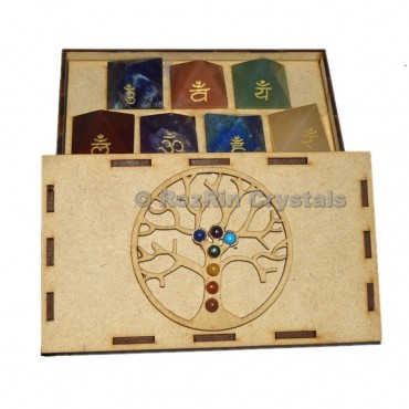 Chakra Tree Of Lfe Sanskrit Pyramid Gift Box