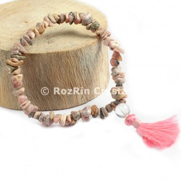 Rhodochrosite AA Chips Power Bracelets