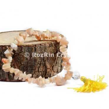 Peach Moonstone Chips Power Bracelets