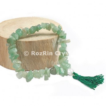 Green Aventurine Chips Power Bracelets