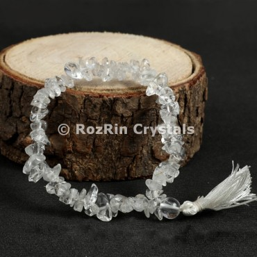 Crystal Quartz Chips Power Bracelets