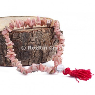 Rhodochrosite Chips Power Bracelets