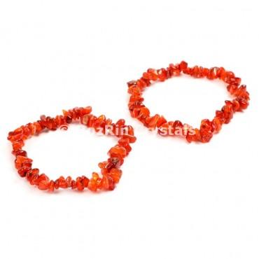 Carnellian Chips Bracelets