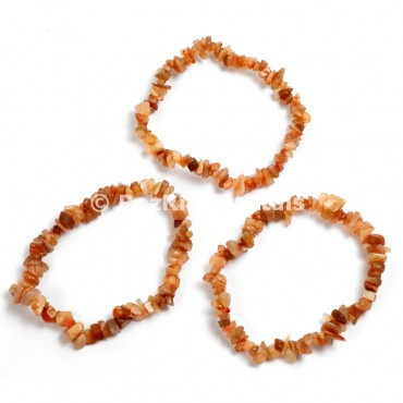 Peach Moonstone Chips Bracelets