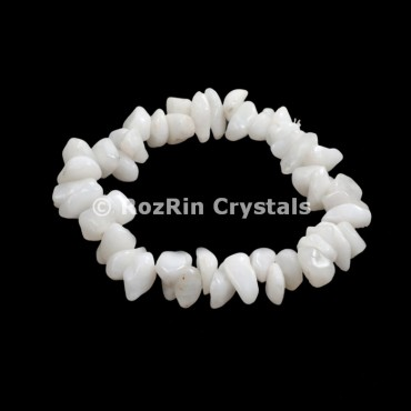White Quartz Chips Bracelets