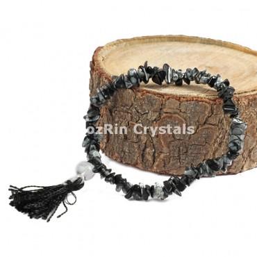 Snowflake Obsidian power Bracelets