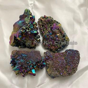 Angel Aura Quartz Cluster Titanium