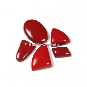 Coral Synthetic Cabochons