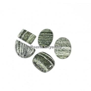 Green Zebra Jasper Cabochons