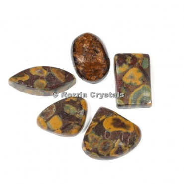 Ajuba stone Cabochons