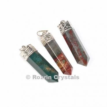 Bloodstone Cap Pencil pendant