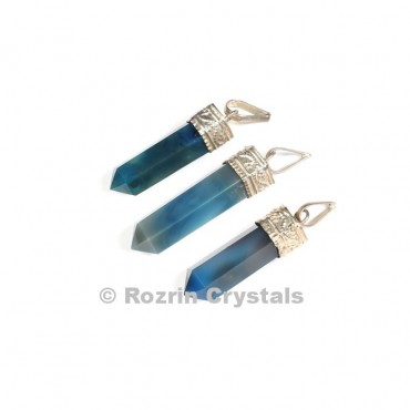 Blue Onyx cap Pencil Pendant