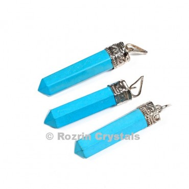 synthetic Turquise Cap Pencil pendant