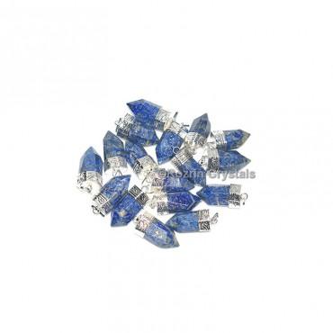 Lapis Lazuli Faceted Cap Pencil Pendant
