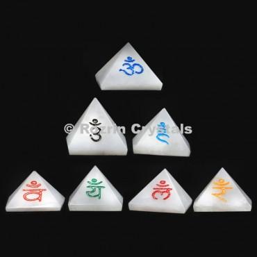 Sanskrit Pyramid Chakra set