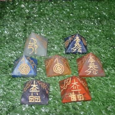 Chakra usui Reiki Pyramid set