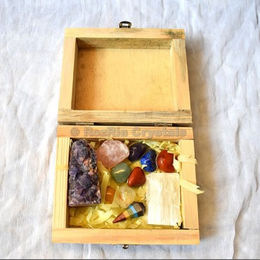 Wholesale Customized Natural Healing Crystal Stone Maditation Kit