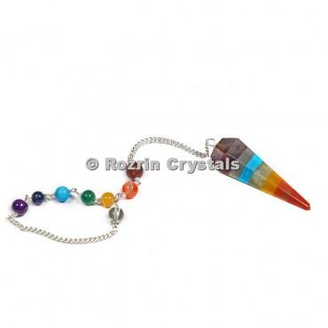 Bonded chakra Healing Pendulums With Turquise