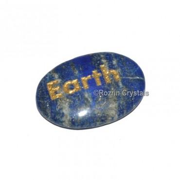 Lapis Lazuli Engraved Earth Word Healing Stone
