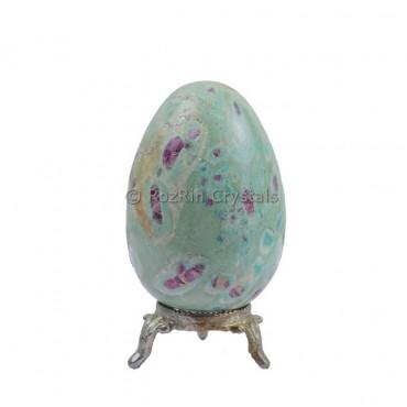 Ruby Zouisite Gemstone Egg