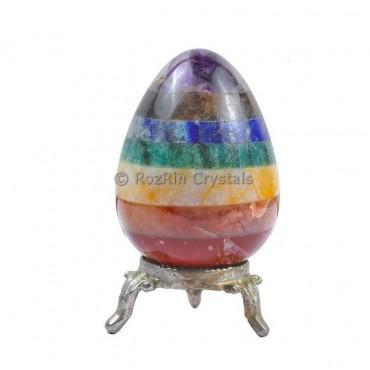 Chakra Bonded With Lapis  Gemstone Egg