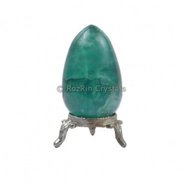 Green Flurite Gemstone Egg