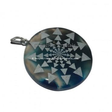 Shree Yantra Engraved Pendant