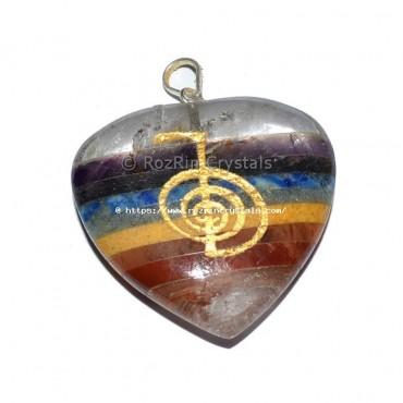 Chakra Bonded Choko Reiki Heart Pendant