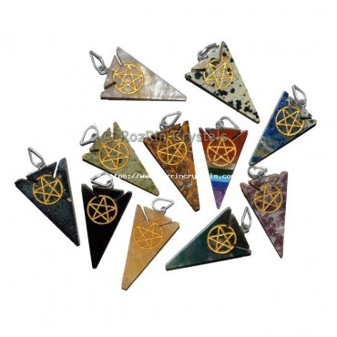 Mix Gemstone Pentagram Pendant