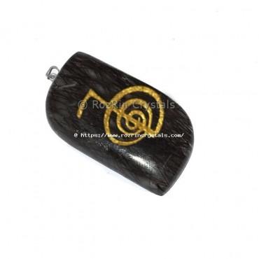 Black Rutile Choko Reiki Pendant