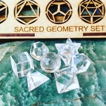 Clear crystal Sacred Geometry set