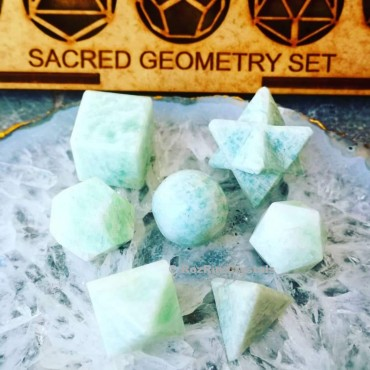 Amazonit Sacred Geometry set